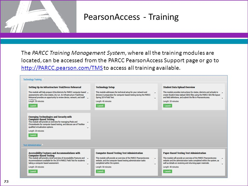 PearsonAccess - Training