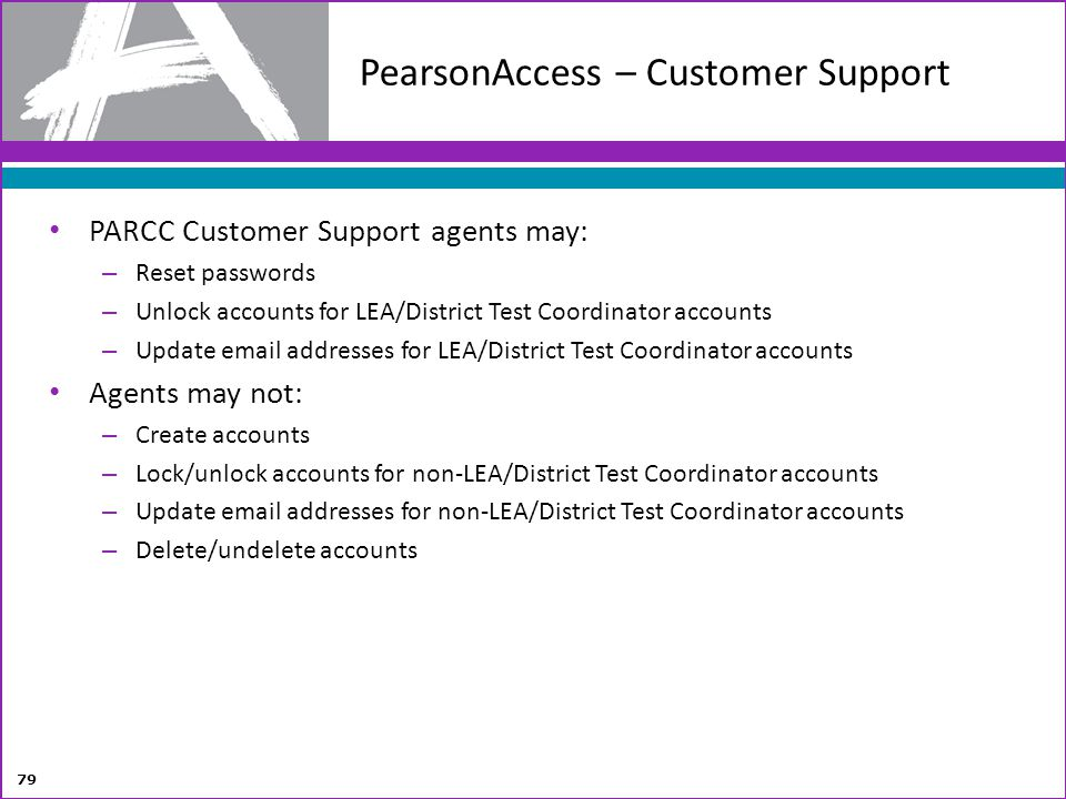PearsonAccess – Customer Support