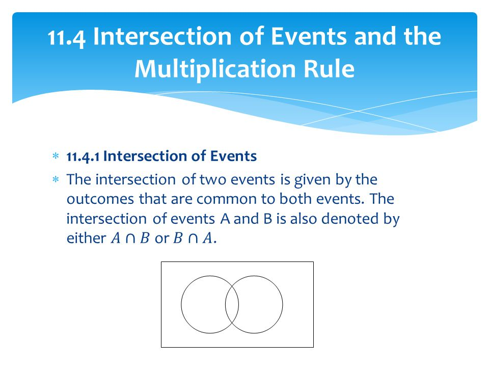 11.4 Intersection of Events and the Multiplication Rule