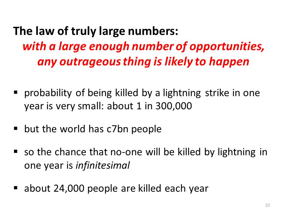 The law of truly large numbers: