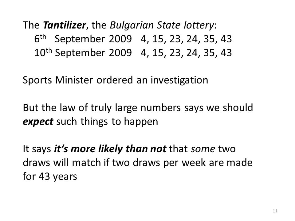 The Tantilizer, the Bulgarian State lottery: