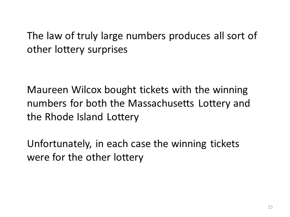 The law of truly large numbers produces all sort of other lottery surprises