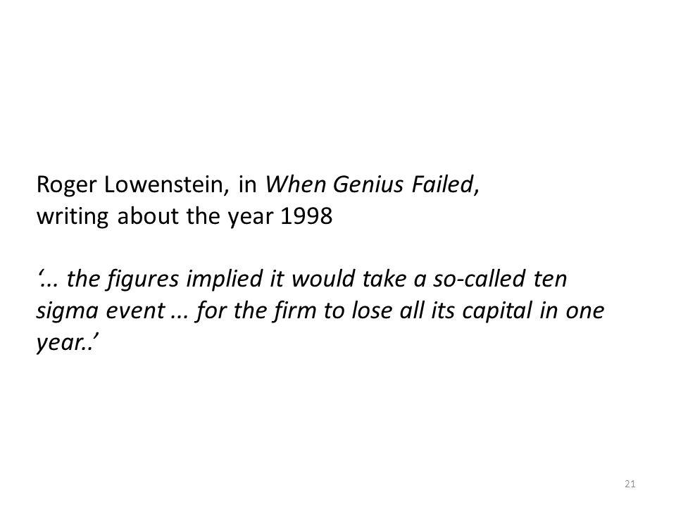 Roger Lowenstein, in When Genius Failed,