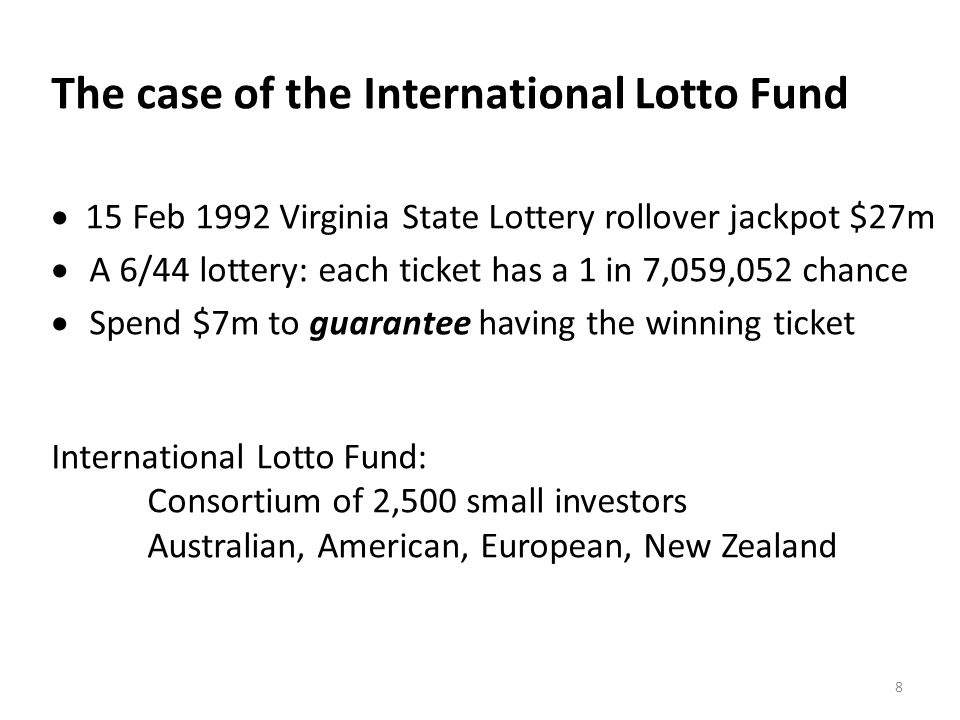 The case of the International Lotto Fund