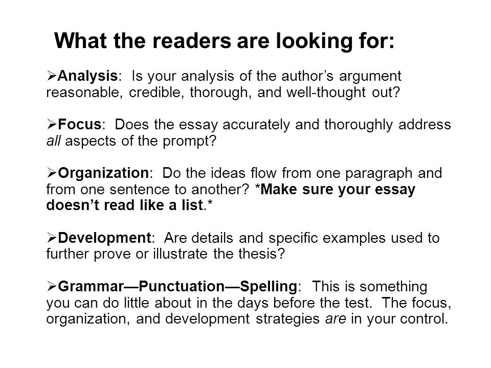 What the readers are looking for: