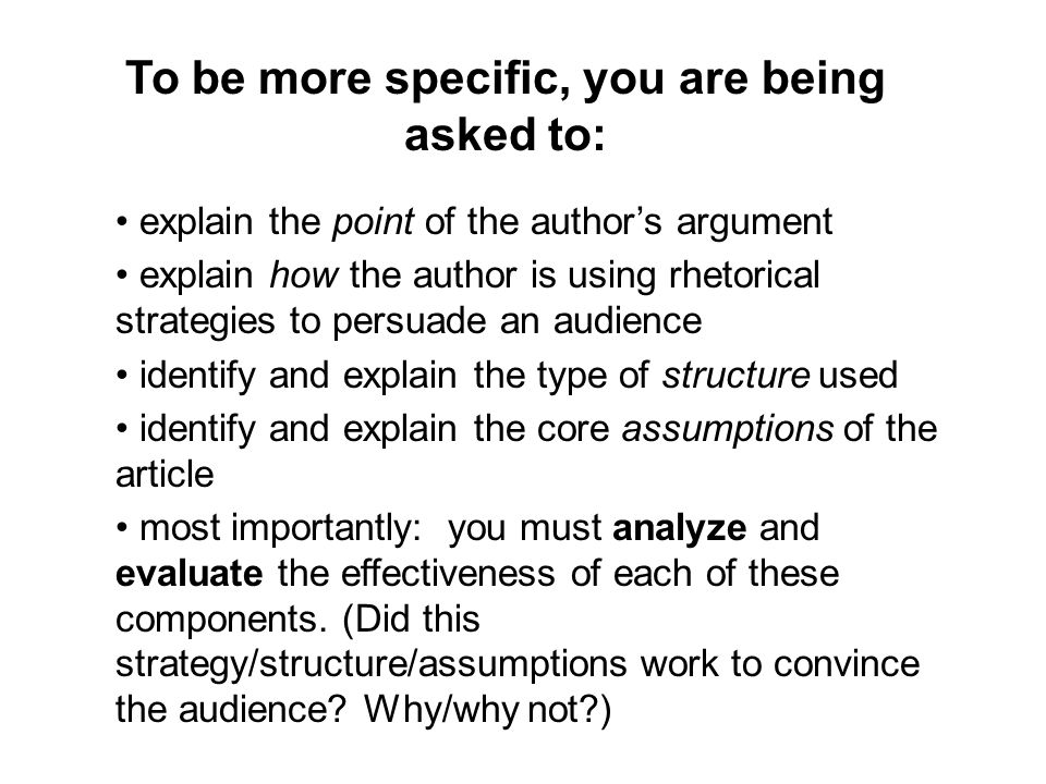 To be more specific, you are being asked to: