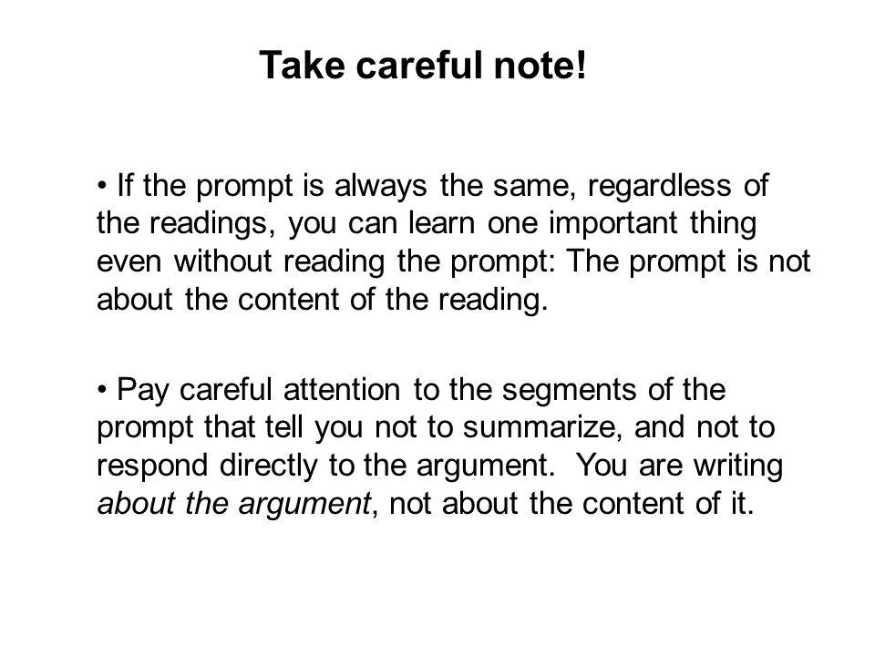 Take careful note!