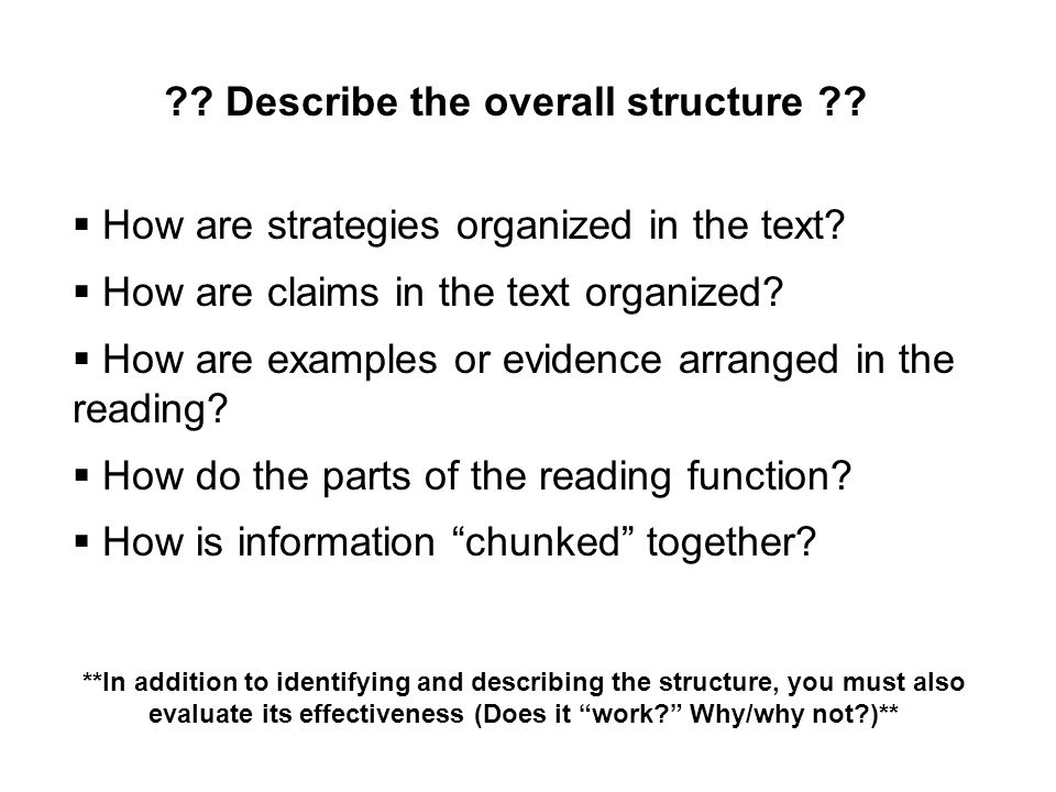 Describe the overall structure