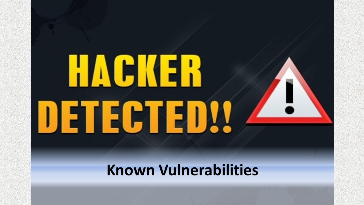 Known Vulnerabilities