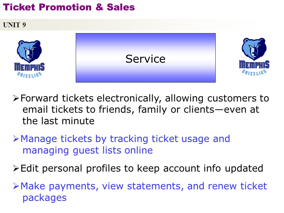 Service Ticket Promotion & Sales