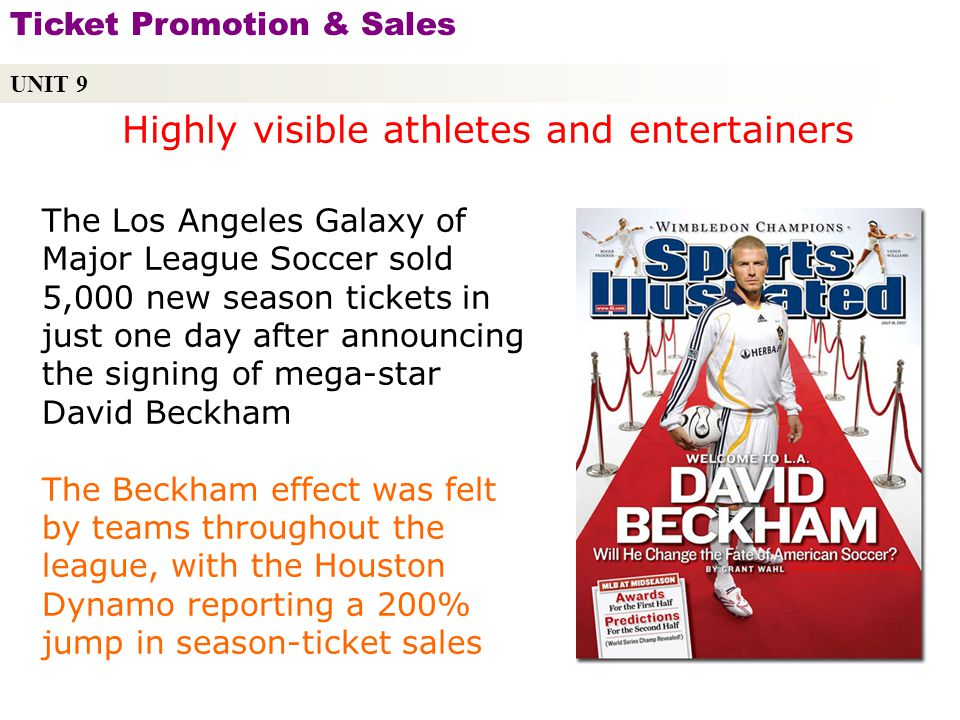 Highly visible athletes and entertainers