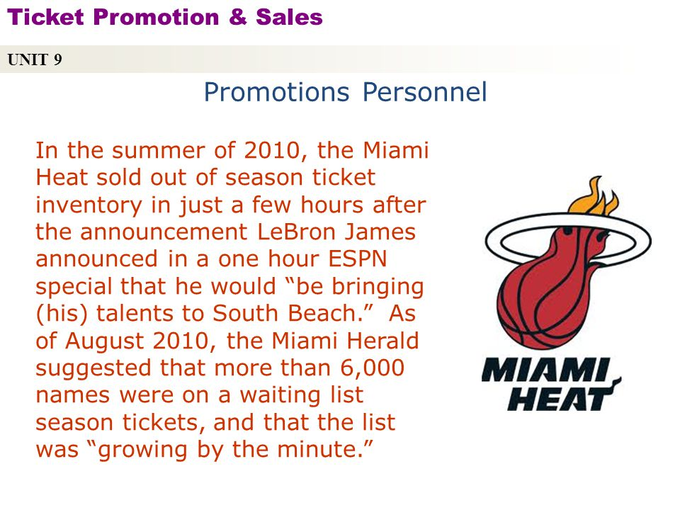 Promotions Personnel Ticket Promotion & Sales