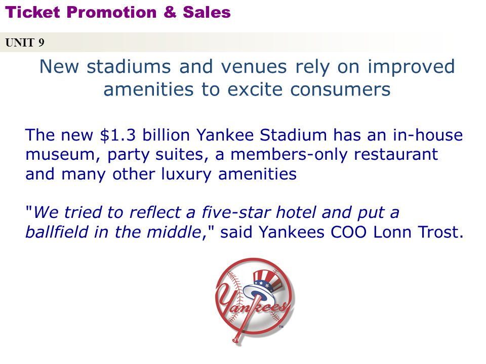 New stadiums and venues rely on improved amenities to excite consumers