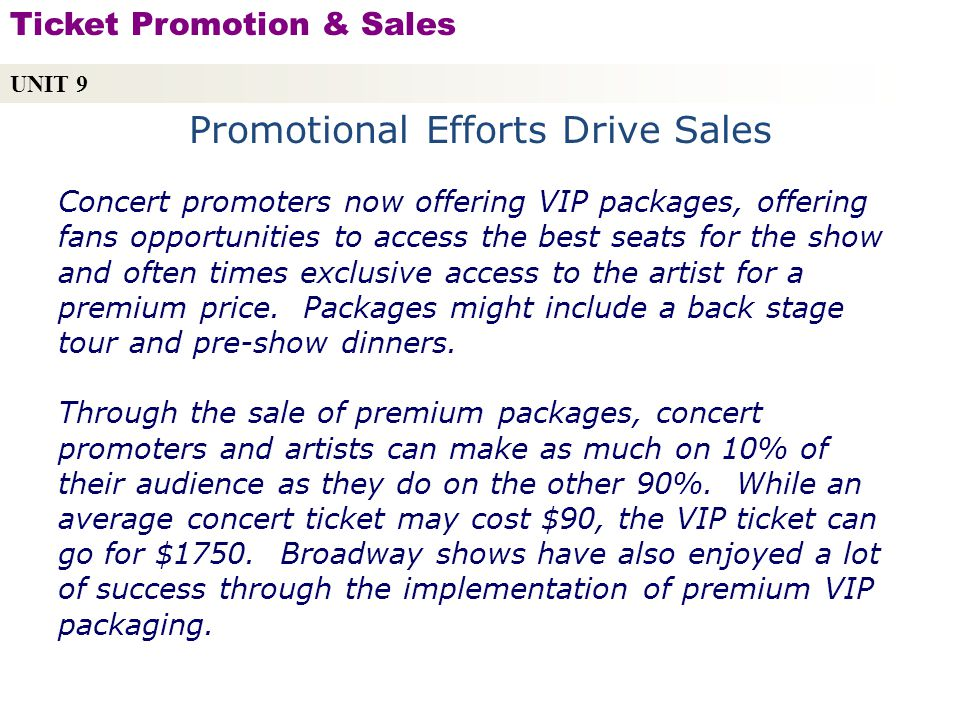 Promotional Efforts Drive Sales