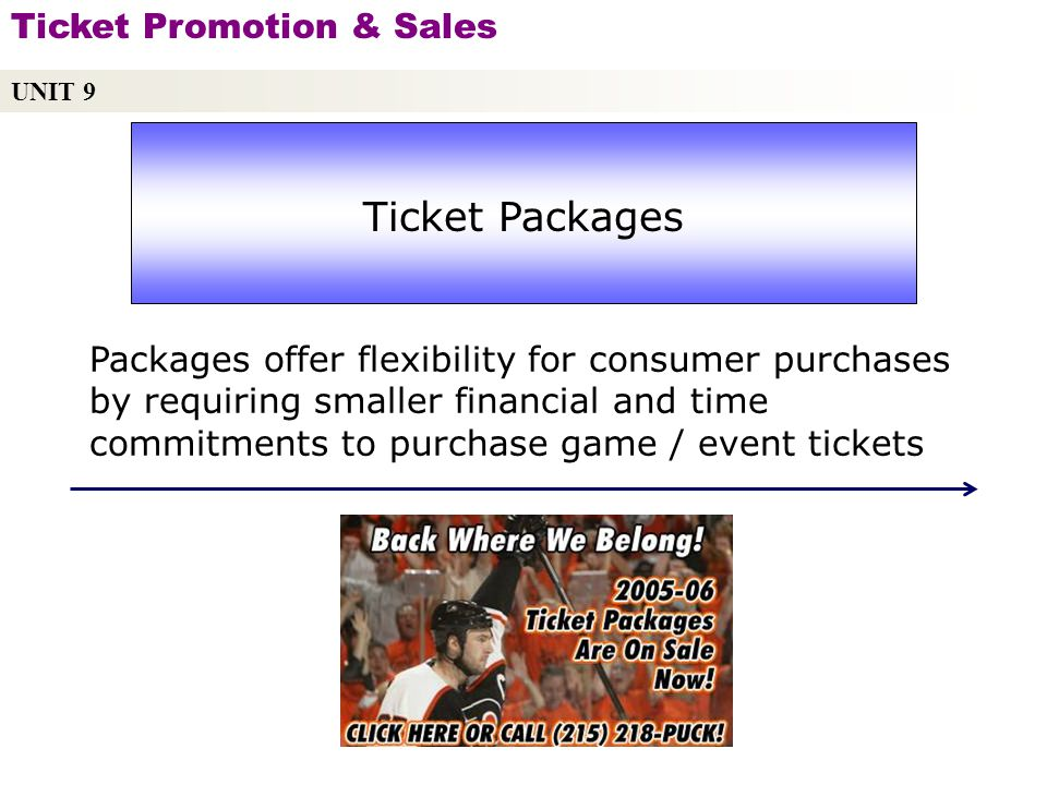 Ticket Packages Ticket Promotion & Sales