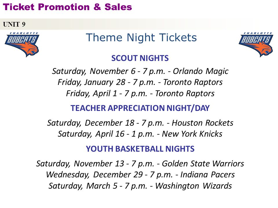 Theme Night Tickets Ticket Promotion & Sales SCOUT NIGHTS