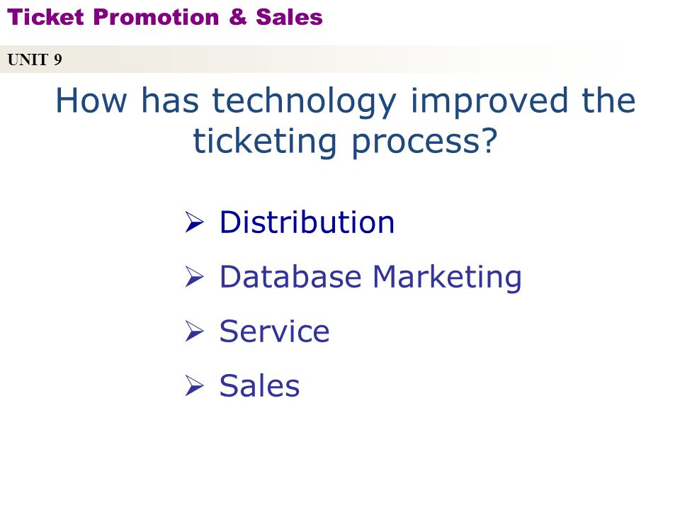 How has technology improved the ticketing process