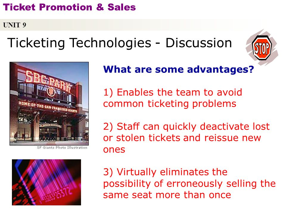 Ticketing Technologies - Discussion