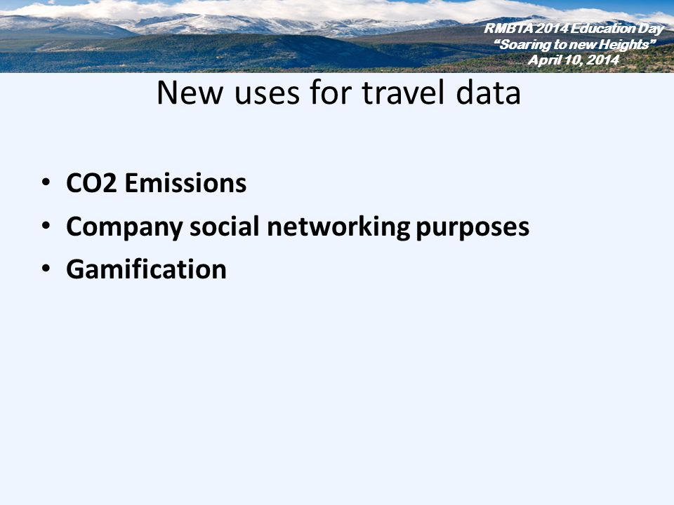 New uses for travel data