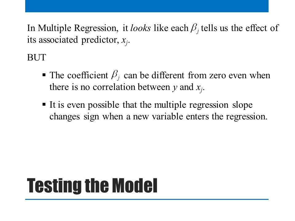 QTM1310/ Sharpe In Multiple Regression, it looks like each tells us the effect of its associated predictor, xj.