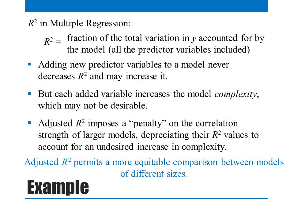 Example R2 in Multiple Regression: