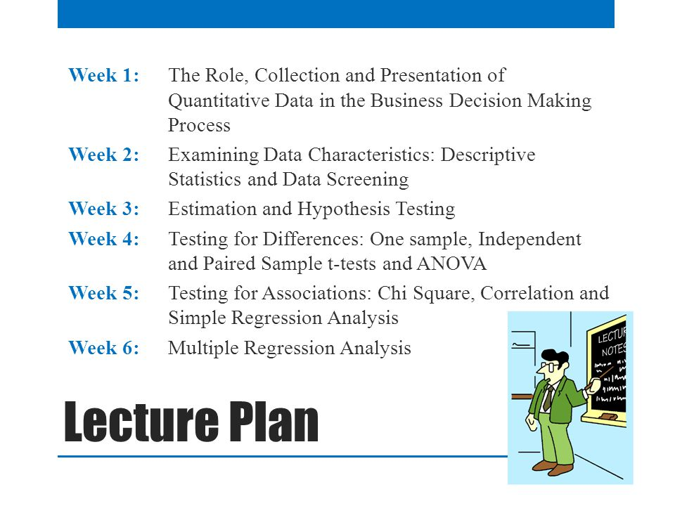 Week 1: The Role, Collection and Presentation of Quantitative Data in the Business Decision Making Process