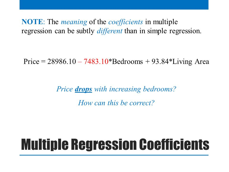 Multiple Regression Coefficients