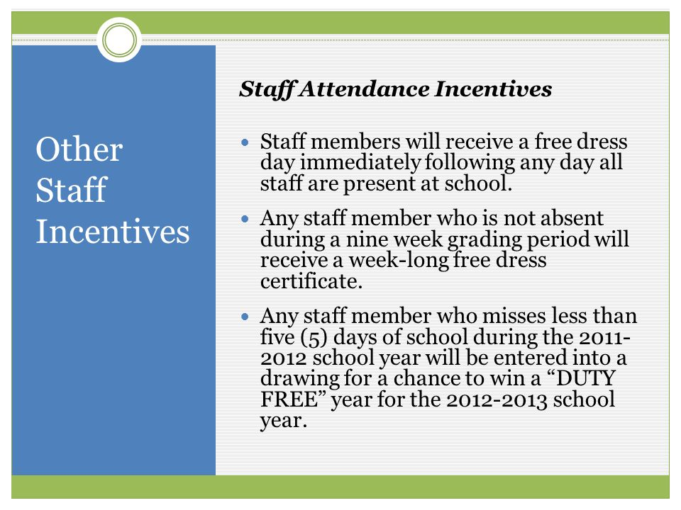 Other Staff Incentives