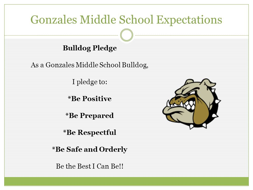 Gonzales Middle School Expectations