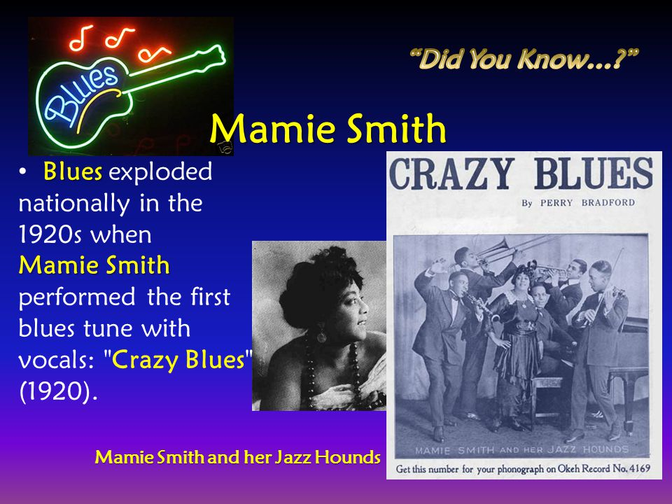 Mamie Smith Did You Know…