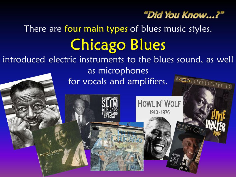 Chicago Blues Did You Know…
