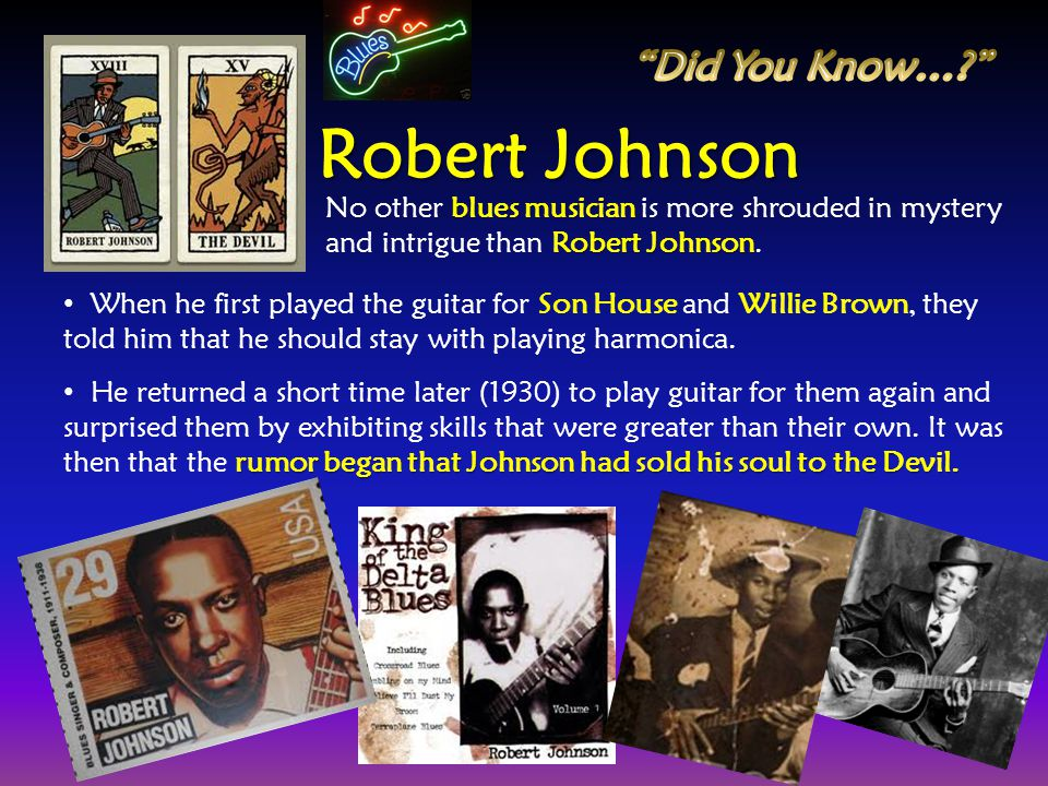 Robert Johnson Did You Know…