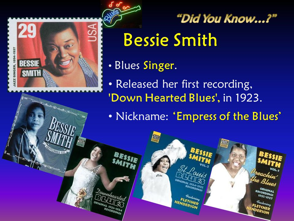Bessie Smith Did You Know…