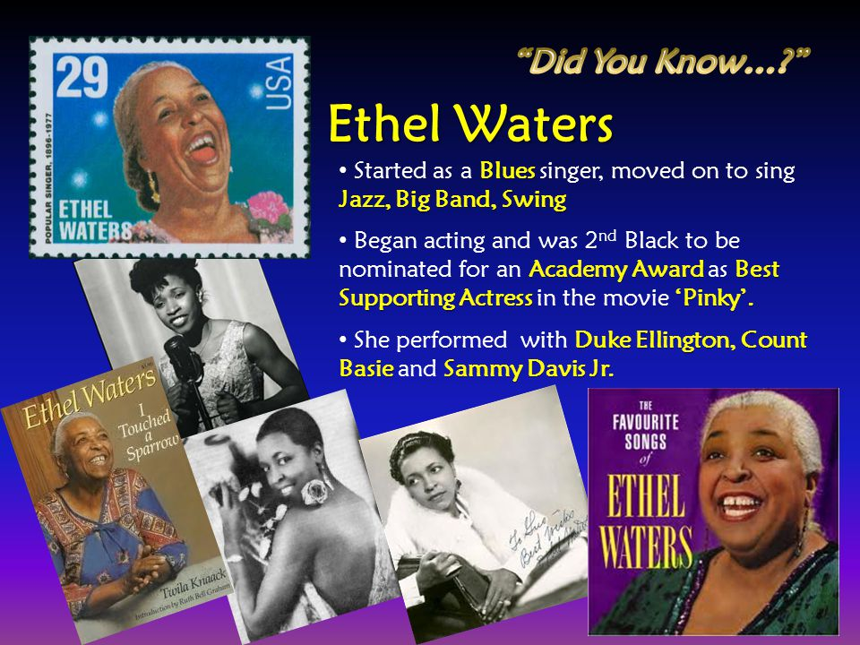 Ethel Waters Did You Know…