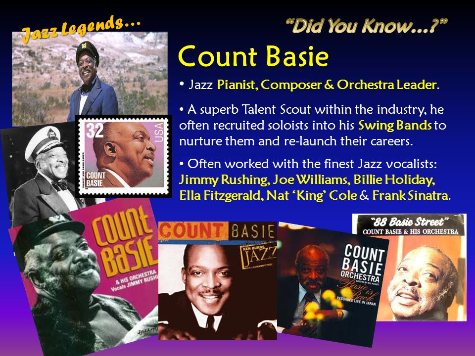 Count Basie Jazz Legends… Did You Know…