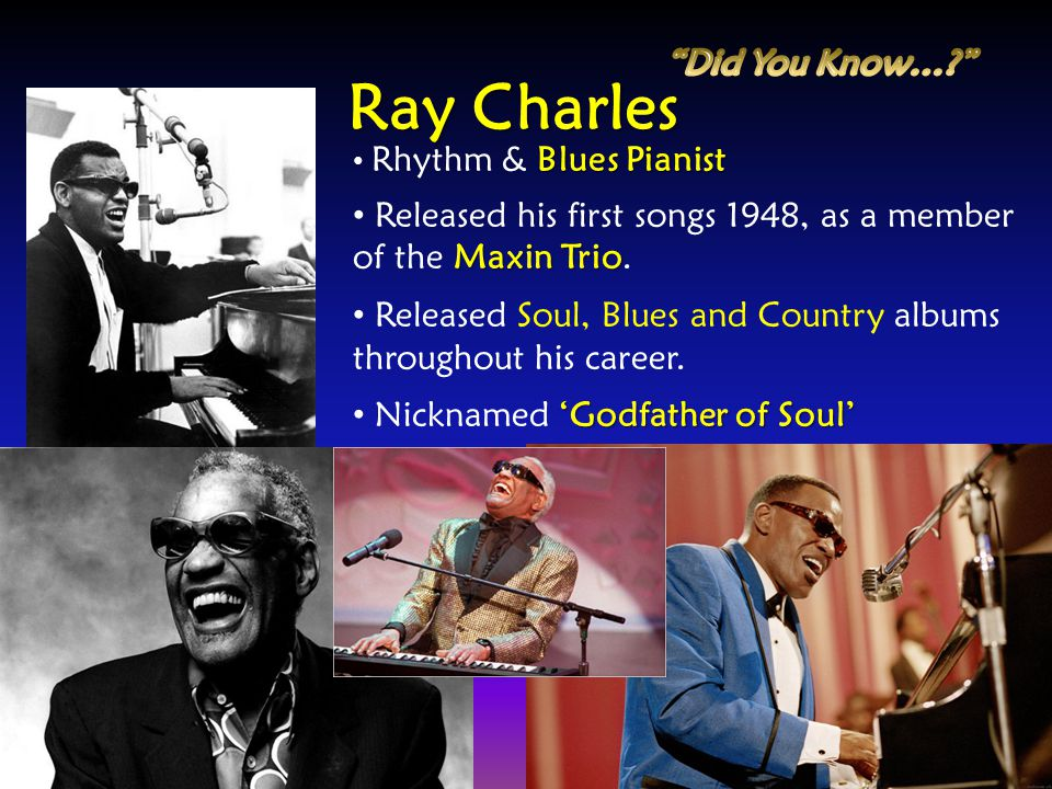 Ray Charles Did You Know…