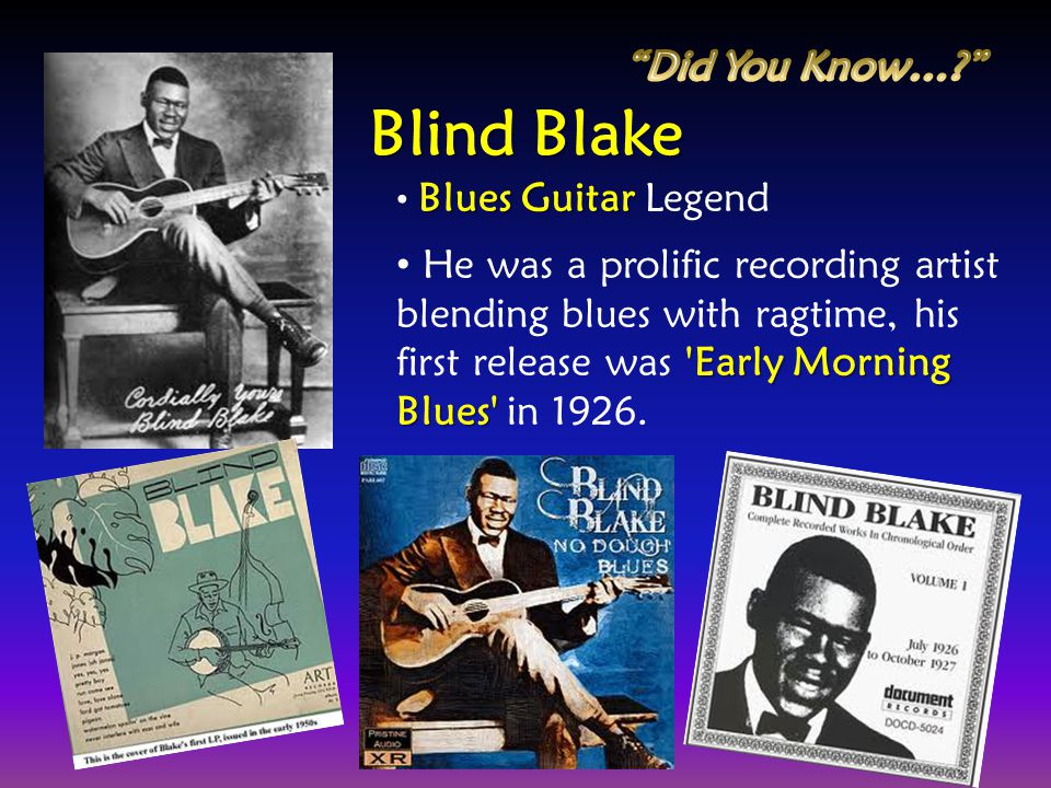 Blind Blake Did You Know…