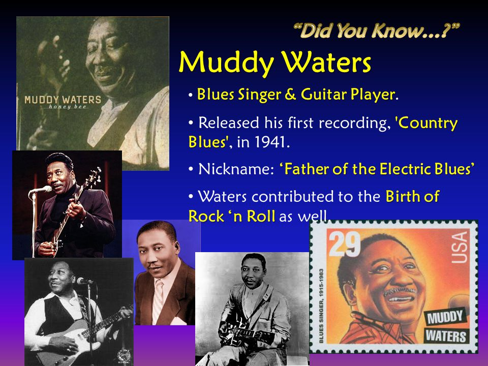 Muddy Waters Did You Know…