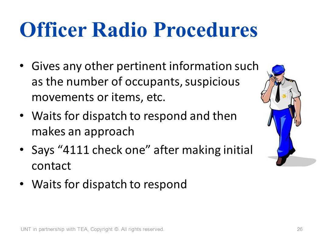 Officer Radio Procedures