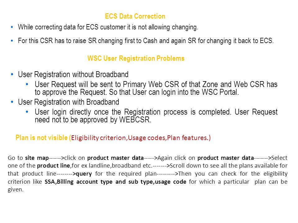 User Registration without Broadband