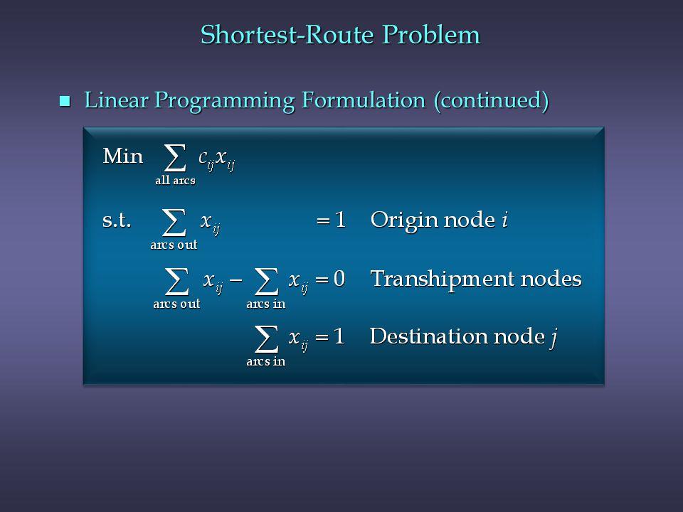 Shortest-Route Problem