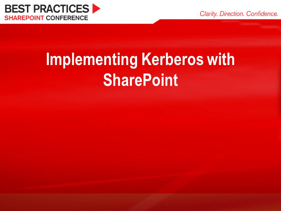 Implementing Kerberos with SharePoint