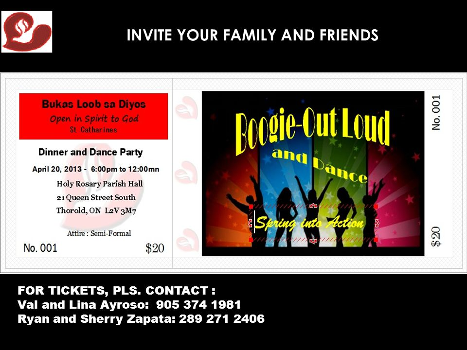 INVITE YOUR FAMILY AND FRIENDS