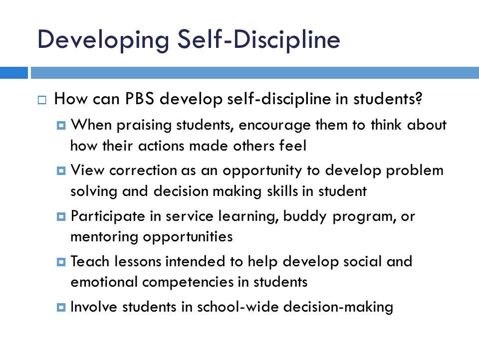 Developing Self-Discipline