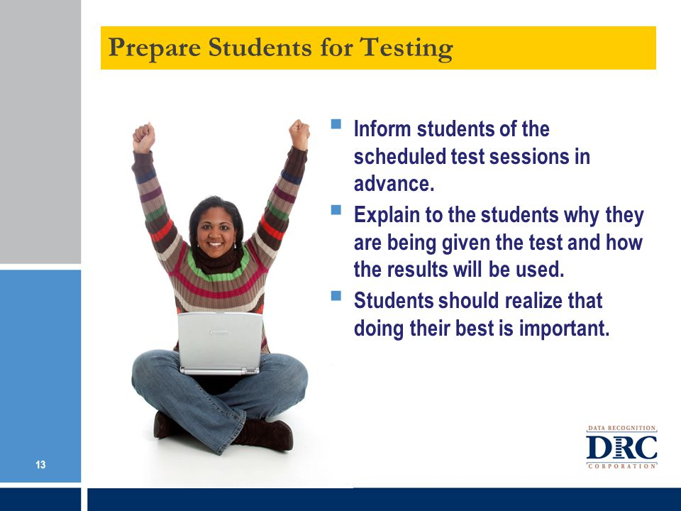 Prepare Students for Testing