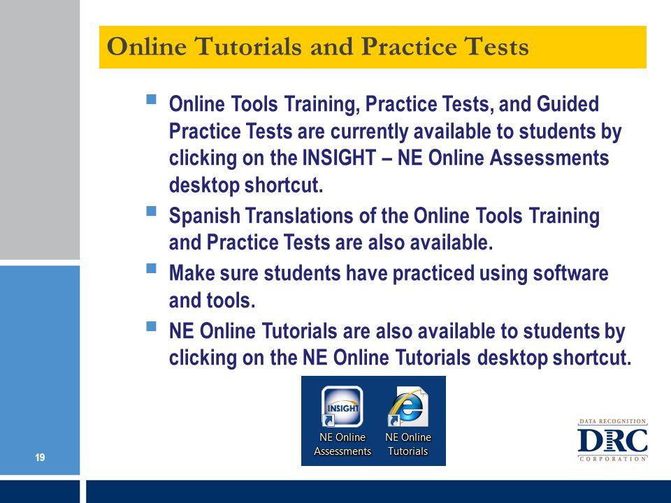 Online Tutorials and Practice Tests