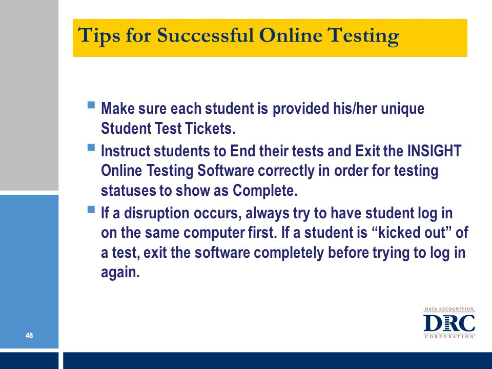 Tips for Successful Online Testing