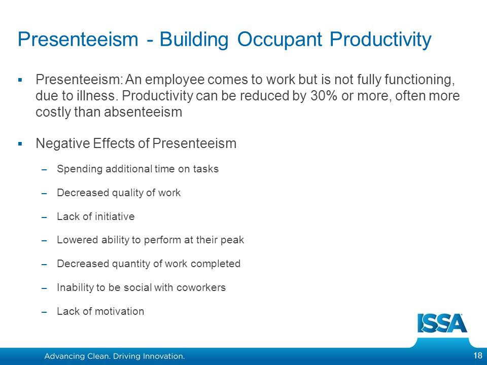 Presenteeism - Building Occupant Productivity
