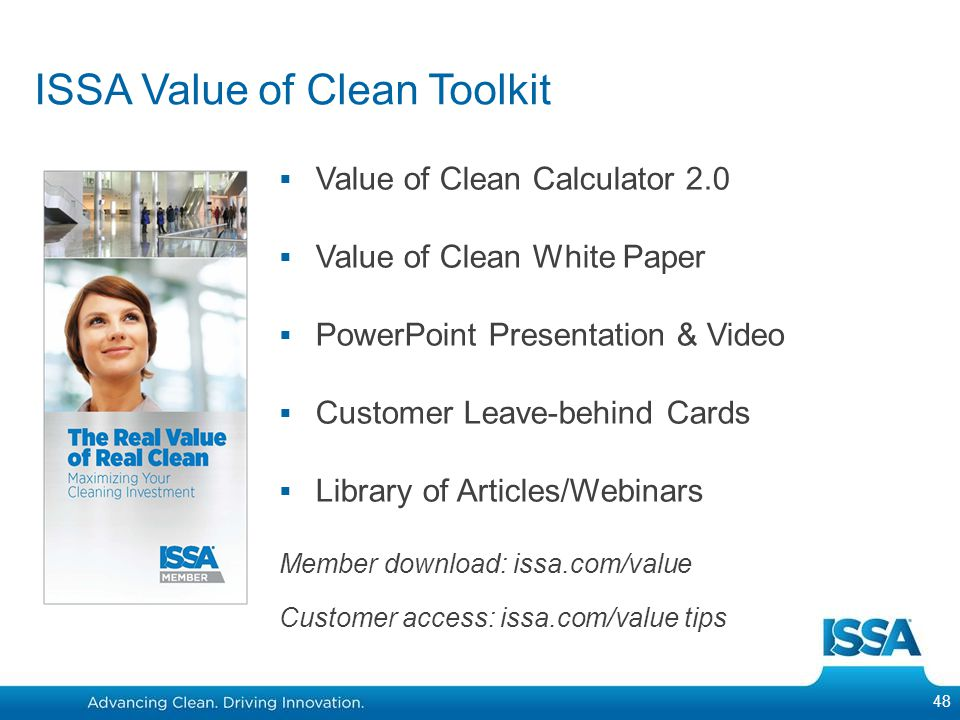 ISSA Value of Clean Toolkit
