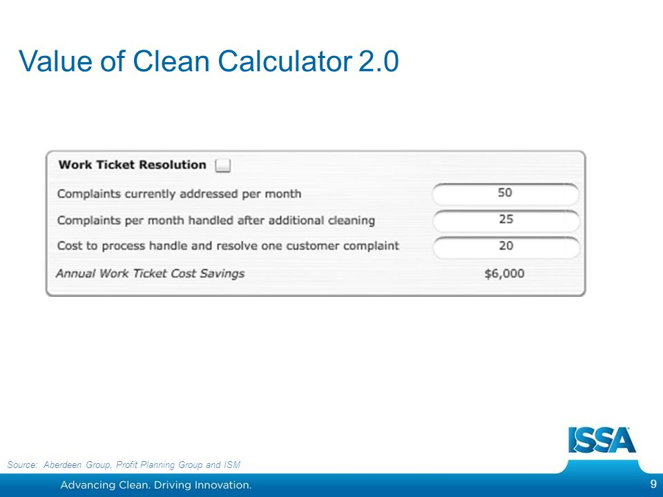 Value of Clean Calculator 2.0